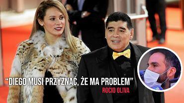 Rocio Oliva, była partnerka Maradony, komentuje jego problemy ze zdrowiem
