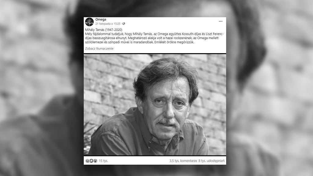 Nie żyje Tamás Mihály. Basista zespołu Omega miał 73 lata