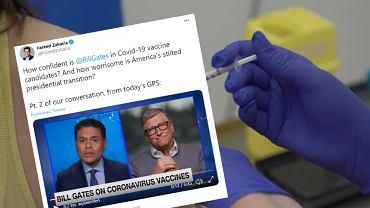 Bill Gates o szczepionkach na koronawirusa.