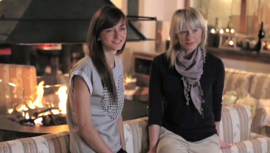 Monika Hojnisz i Krystyna Pałka