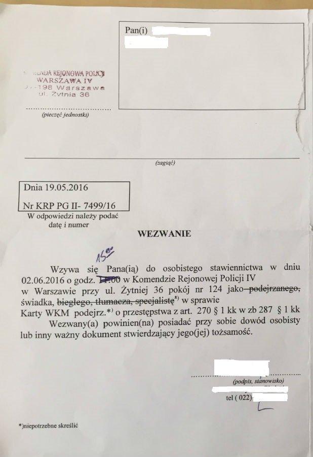 Doładował w automacie kartę miejską. Teraz oskarżają go o oszustwo. 'To absurd' - mówi czytelnik metrowarszawa.pl