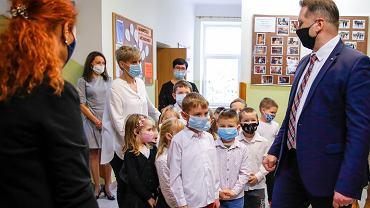 Wizyta Przemysława Czarnka w szkole