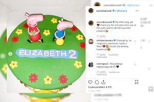 Weronika Rosati przygotowała córce przyjęcie urodzinowe. Fani żartują z tortu