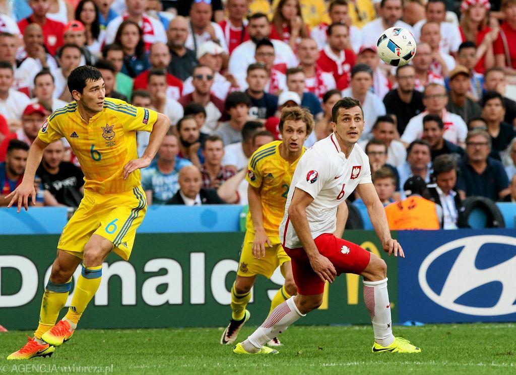 Tomasz Jodłowiec podczas meczu Polska Ukraina w fazie grupowej Euro 2016