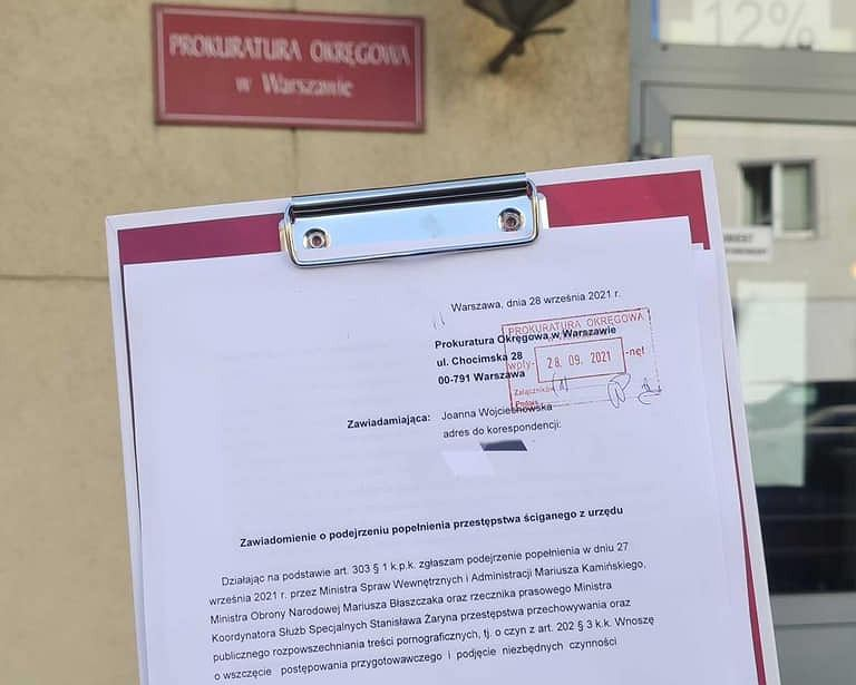 Razem składa zawiadomienie do prokuratury ws. konferencji Kamińskiego i Błaszczaka