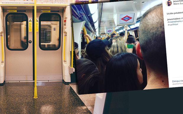 """Madryt ma problem: tłumy w metrze. Zatrudniono więc """"funkcjonariuszy do dystrybucji pasażerów w wagonach"""""""
