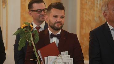 Dariusz Martynowicz - Nauczyciel Roku podczas uroczystości wręczenia nagrody na Zamku Królewskim w Warszawie, 12 października 2021 r.
