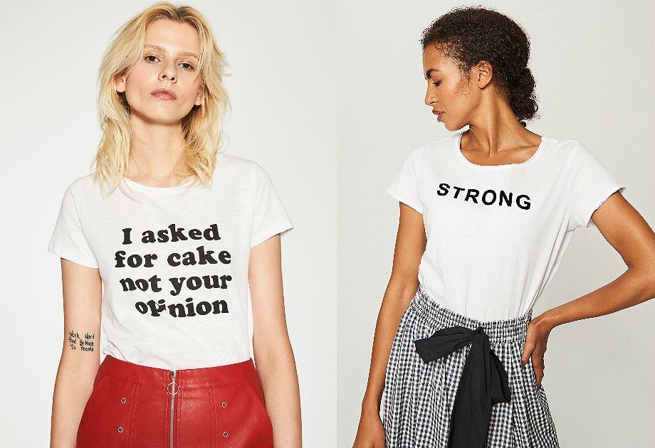 T-shirt ze sloganem