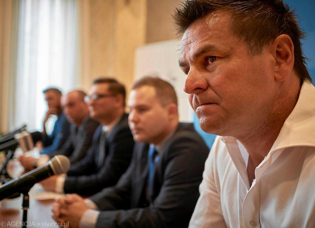 Jacek Płachta, a na drugim planie Przemysław Plisz