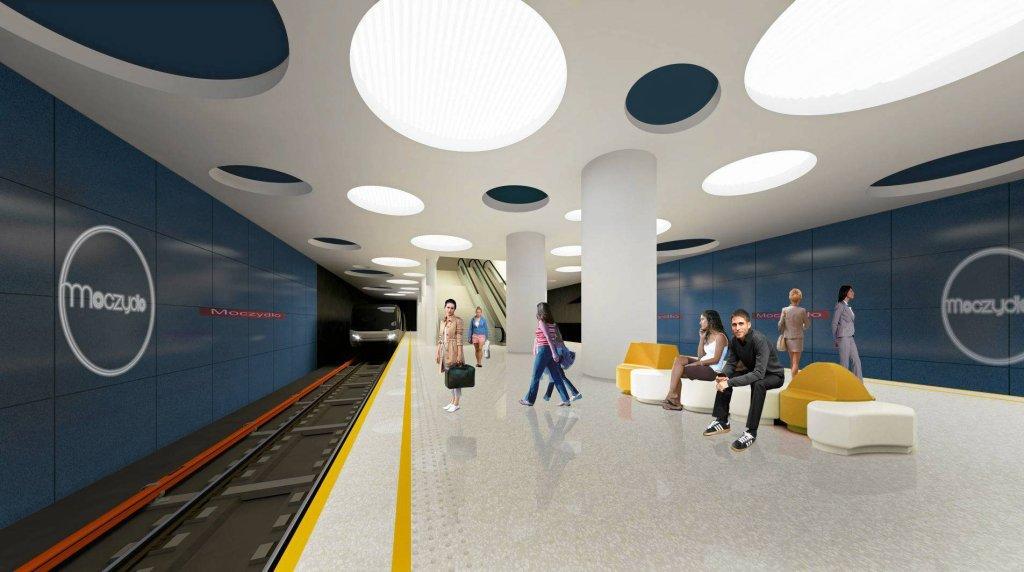 Metro Warszawa. Tak może wyglądać stacja metra Moczydło