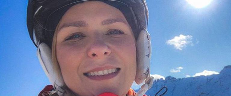 Aneta Zając wyjechała na wakacje w Alpy. Razem z synami jeździła na nartach