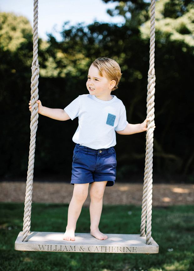 Britain's Prince George is seen in this photograph taken at his home in Norfolk in mid-July, and released by Kensington Palace to mark his third birthday, in London, Britain July 22, 2016. Mandatory Credit. Matt Porteous/Duke and Duchess of Cambridge/Handout via REUTERSATTENTION EDITORS - This photograph is provided to you strictly on condition that you will make no charge for the supply, release or publication of it and that these conditions and restrictions will apply (and that you will pass these on) to any organisation to whom you supply it. All other requests for use should be directed to the Press Office at Kensington Palace in writing. NO COMMERCIAL OR BOOK SALES. NO SALES. NO ARCHIVES. FOR EDITORIAL USE ONLY. NOT FOR SALE FOR MARKETING OR ADVERTISING CAMPAIGNS MANDATORY CREDIT
