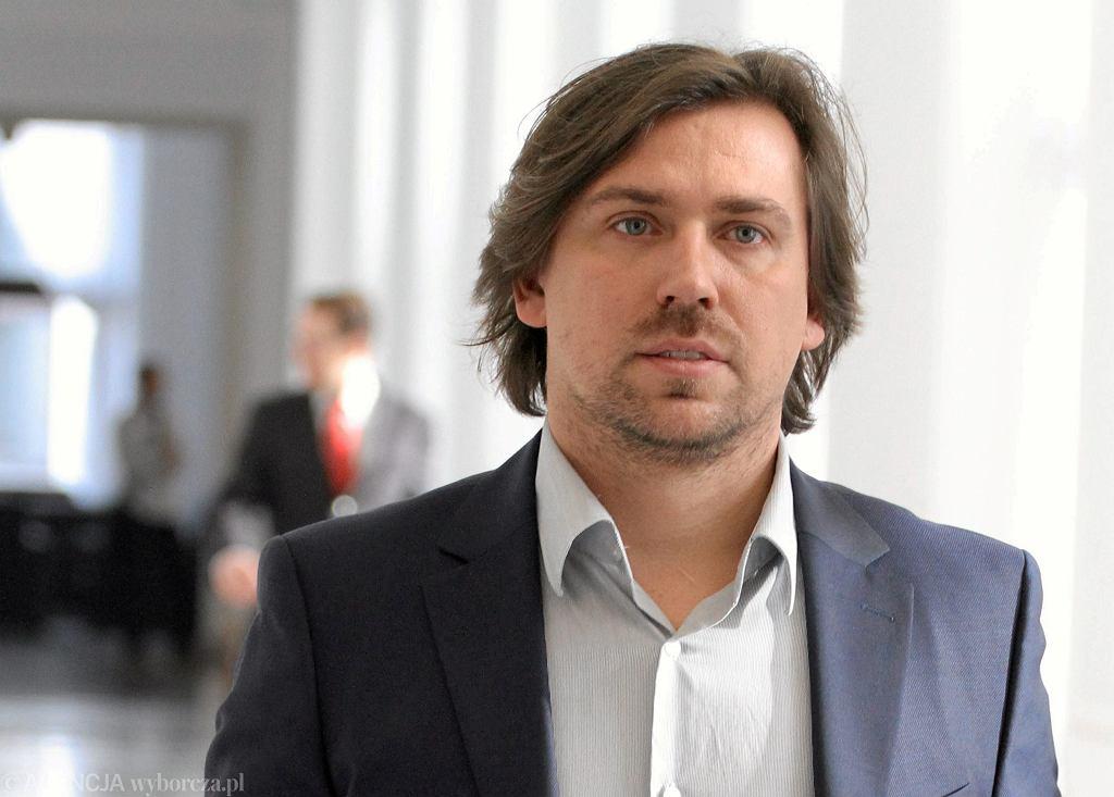 Tomasz Kaczmarek w Sejmie, 2014.