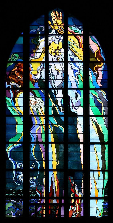 Witraż Bóg Ojciec z kościoła franciszkanów w Krakowie, zaprojektowany przez Stanisława Wyspiańskiego