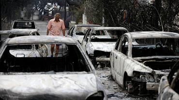 Pożary w Grecji.