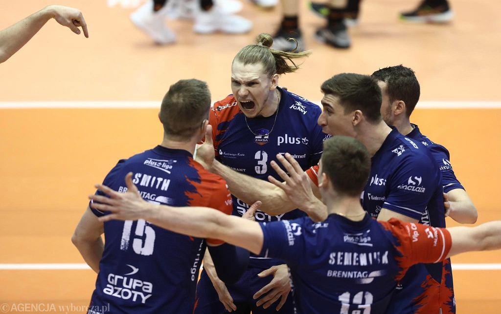 Kraków, turniej finałowy Pucharu Polski. Mecz ZAKSA Kędzierzyn-Koźle - Jastrzębski Węgiel