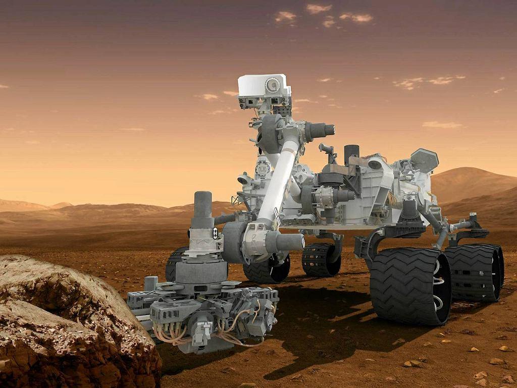 Rysunek łazika Curiosity - to sonda nowej generacji, która bezpiecznie wylądowała na Marsie