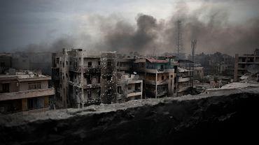 Wojna w Syrii - zdjęcie z 2012 roku (na zdjęciu Aleppo)