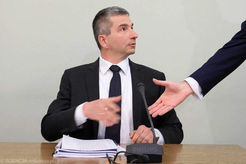 16.05.2019, Sejm, były minister finansów Mateusz Szczurek przed komisją ds. VAT