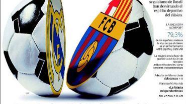 Dziś na Camp Nou pierwsze w tym sezonie ligowe starcie między Barceloną a Realem Madryt. Nadejście wielkiego sportowego wydarzenia sygnalizują wszystkie najważniejsze hiszpańskie dzienniki. Oto krótki przegląd okładek lokalnych gazet. Na początek dziennik 'La Razon' z pomysłową, bardzo wymowną grafiką i tytułem 'Mecz o niepodległość' nawiązującym do niepodległościowych dążeń Katalończyków