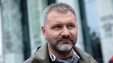 Sędzia Waldemar Żurek podczas pikiety pod Sądem Najwyższym. Warszawa, 9 czerwca 2020