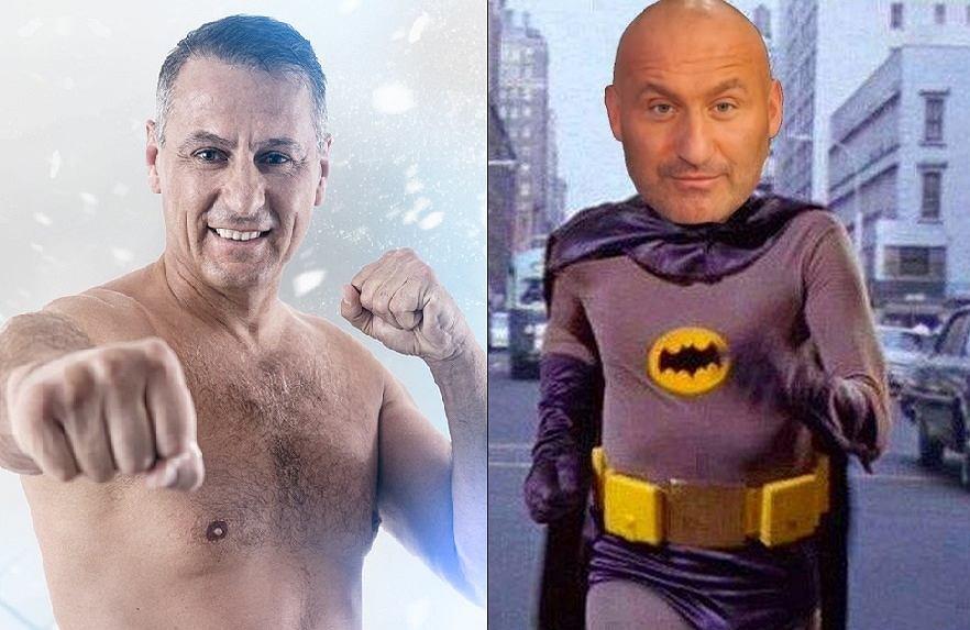 Świerczewski sugeruje Najmanowi, by założył strój batmana i zaczął starty we wrestlingu