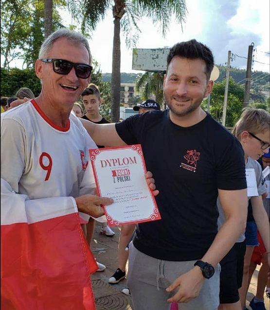 Arlindo Waczuk, prezes Braspolu, w koszulce Roberta Lewandowskiego