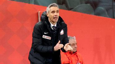 Paulo Sousa podczas meczu Polska - Andora eliminacji Mistrzostw Świata. Warszawa, 28 marca 2021 r
