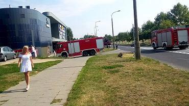 Alarm pożarowy w galerii handlowej na gorzowskim Górczynie