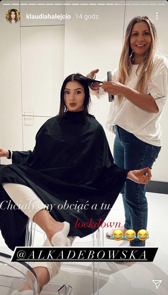 Klaudia Halejcio skorzystała z usług fryzjerki