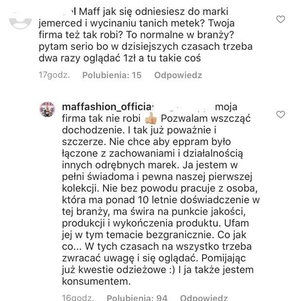 Maff komentuje aferę z Jessicą
