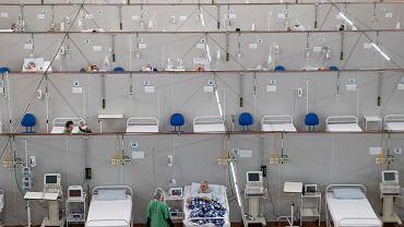 09.06.2020 Brazylia, Sao Paulo. Szpital polowy zbudowany dla osób zakażonych koronawirusem.