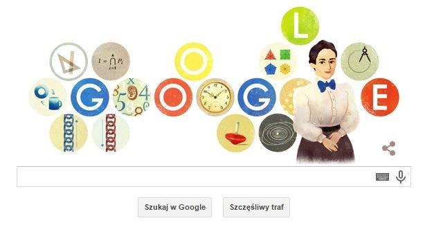 Emmy Noether uhonorowana przez Google