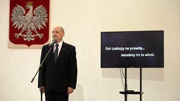Minister Antoni Macierewicz powołuje Komisję Badania Wypadków Lotniczych, 4 lutego 2016.