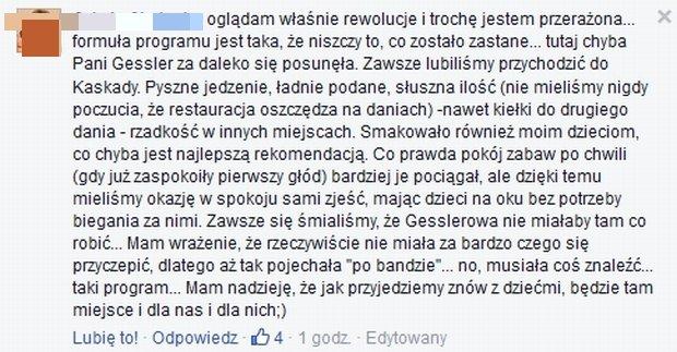 Komentarze na Facebook.com/zawijanebistro