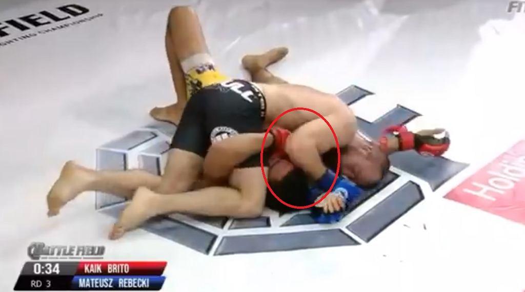 Rębecki wygrał przez TKO