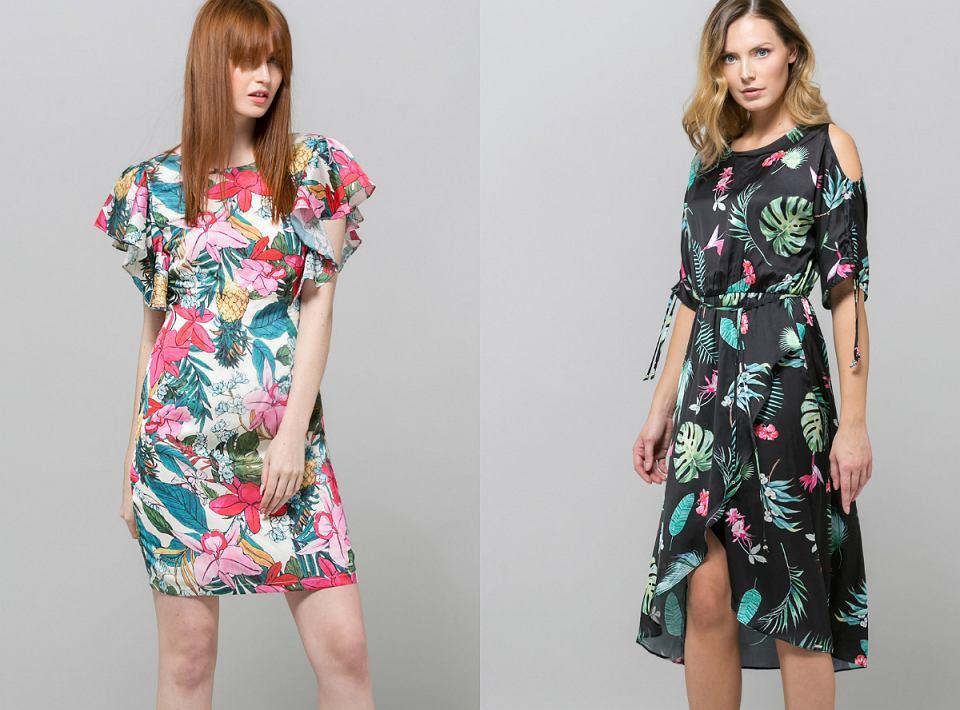 Sukienki w kwiaty Monnari