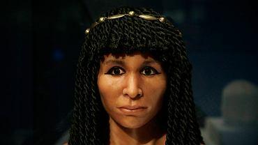 Rekonstrukcja głowy jednej z egipskich księżniczek, znanej jako Glided Lday