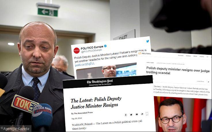 Światowe media o skandalu z Łukaszem Piebiakiem
