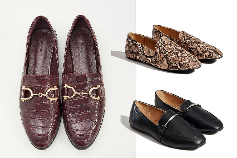 Eleganckie buty na płaskiej podeszwie ze znanych sieciówek