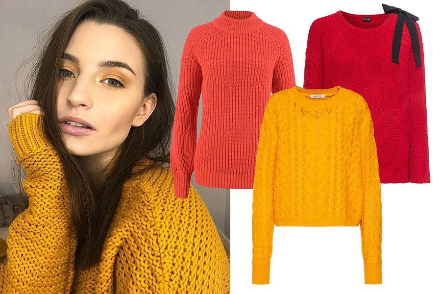 ciepłe kolorowe swetry damskie / mat. partnera