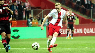 Polska - Niemcy 2:0. Sebastian Mila strzela gola