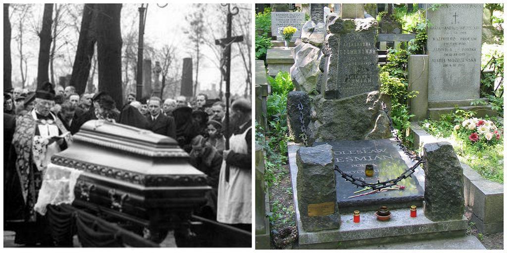 Pogrzeb i grób Leśmiana (fot. Narodowe Archiwum Cyfrowe / GrzegorzPetka / Wikimedia.org / Domena Publiczna)