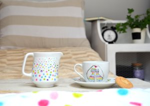 dzbanek, malowanie na porcelanie, ceramika, tutorial diy