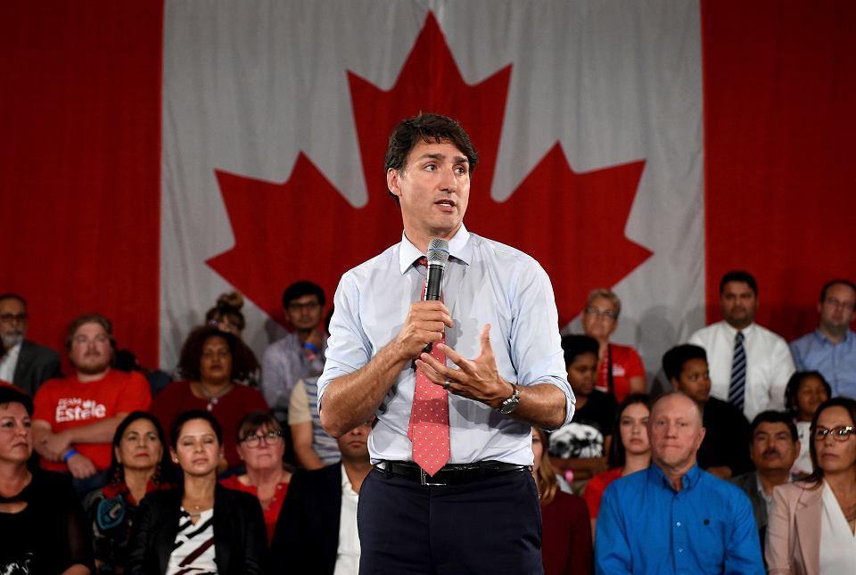 Justin Trudeau podczas kampanii wyborczej, Saskatoon, 19 września  2019 r.