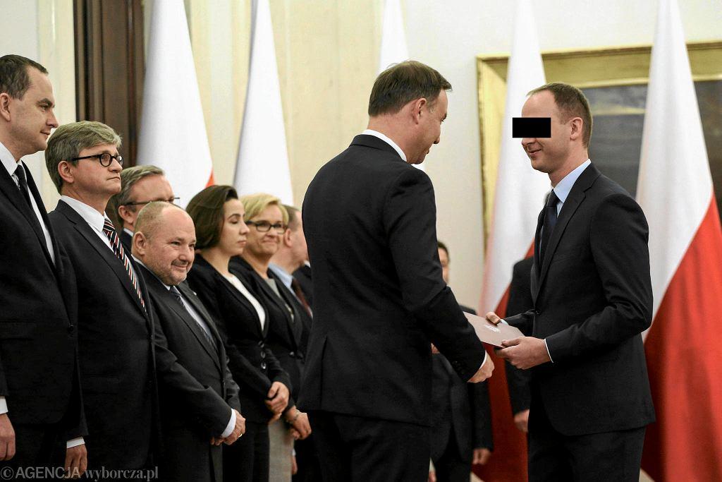 16.10.2015, Warszawa, Pałace Prezydencki, prezydent Andrzej Duda powołuje Marka Ch. na członka Narodowej Rady Rozwoju