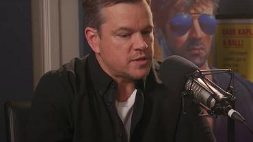 Matt Damon podczas wywiadu u Billa Simmonsa