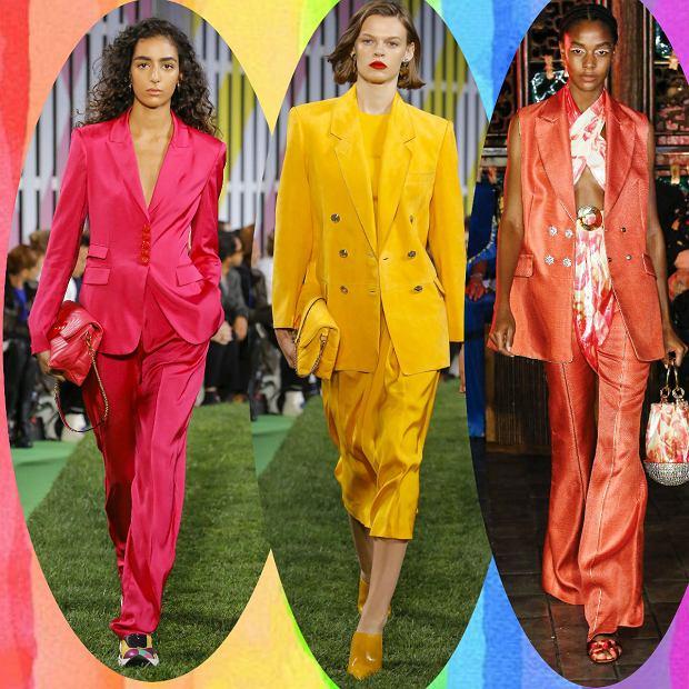 Kolorowe garnitury to jeden z wiodących trendów mody wiosna-lato 2019