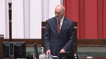 Antoni Macierewicz w Sejmie.