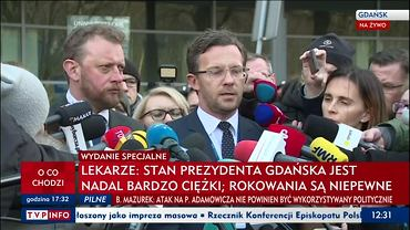 Konferencja ws. Pawła Adamowicza